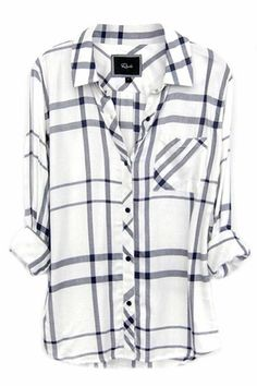 Rails Hunter Plaid Shirt in Cadet Blue