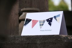 Happy Birthday card with Nautical Bunting by Katiedidonline, $3.75