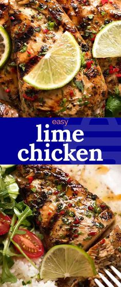 Lime Chicken infused with garlicky, savoury lime flavours! The trick to getting depth of flavour in a simple lime marinade is to use soy sau. Marinated Grilled Chicken, Grilled Chicken Recipes, Best Chicken Recipes, Recipetin Eats, Snacks Sains, Cooking Recipes, Healthy Recipes, Main Meal Recipes, Lime Recipes Dinner