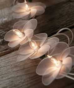 White Flower String Lights