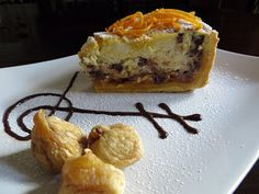 I miei dolci - Torta di ricotta e cioccolato, con arance caramellate e fichi secchi | Tra Pignatte e Sgommarelli