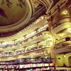 El Ateneo Bookshop in Buenos Aires, Argentina off of Santa Fe Ave. & Callao