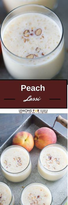 Peach Lassi recipe made with lots of fresh peaches and Greek yogurt. Easy and healthy never tasted so good!