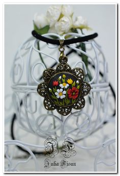Floral Pendant Necklace Wildflowers Floral Jewelry от BiJuly