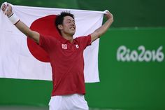 Kei Nishikori won Japan's first Olympic tennis medal in almost a century on Sunday when he captured bronze against Rafael Nadal, despite the weary Spaniard mounting a stirring mid-match fightback. Kei Nishikori, Sailing Adventures, Rafael Nadal, Rio 2016, Tennis Players, Olympics, Polo Ralph Lauren, Japan, Sports