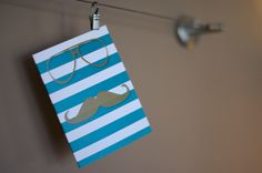 Flat Custom Printed Mustache Note Cards - Personalized Greeting Cards - Choose your colors - (Set of 5). $7.00, via Etsy.