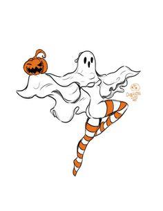 Demon Drawings, Tattoo Drawings, Art Drawings, Halloween Art, Vintage Halloween, Ghost Comic, Pop Art Girl, Gothabilly, Cute Poster