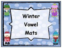 Winter Themed Short and Long Vowel Mats 20% off from Dec 23rd till 26th!