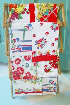 Vibrant Vintage Tea Towels