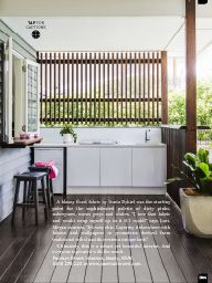 With a huge backyard entertaining zone, this renovated Queenslander in Brisbane simply needed an internal facelift to become a perfect yet practical family home. Modern Outdoor Kitchen, Outdoor Kitchen Bars, Kitchen On A Budget, Farmhouse Kitchen Decor, Kitchen Ideas, Stylish Kitchen, Dirty Kitchen, Outdoor Bars, Patio Kitchen