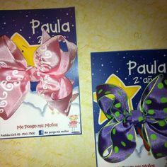 Moños para niñas, con blisters personalizados de acuerdo al evento