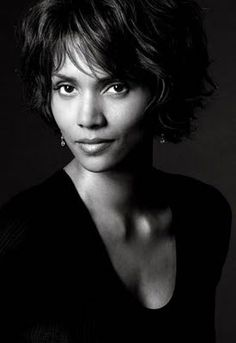 ♀ Black and white woman portrait face of Halle Berry, by Greg Gorman
