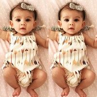 $5! So cute!! Wish | Cute Baby Infant Girls Clothes Romper Jumpsuit Sets Outfits