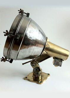 1960s Brass & Steel Fox Light Kitchen Aid Mixer, Kitchen Appliances, Old Lights, Vintage Nautical, Industrial Lighting, Brass, Steel, 1960s, Fox