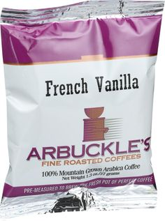 Arbuckles' Coffee - French Vanilla - 1.3 oz - Case of 10