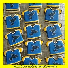 St. Louis Blues Jersey Cookies  Custom Cookies by Cousin's Creations - Cousin's Creations