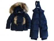 MANUDIECI - fluffy down snow suit for boys and girls, also available in white and beige.