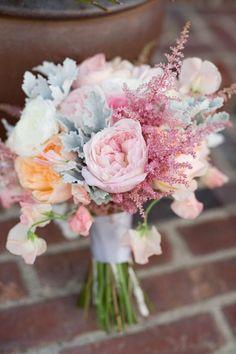Pastel (watercolors) wedding bouquet