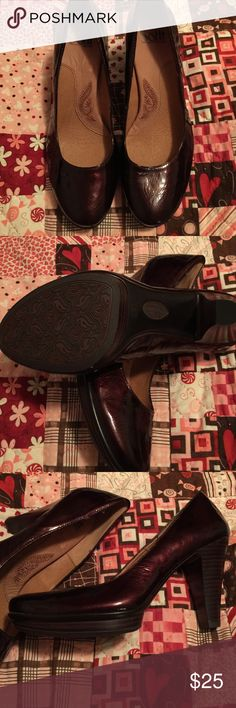 Sofft wine colored pumps.  SMALL size 9. They are listed as 9 on the shoe, but fit like an 8.5.  Like brand new!! Great deal! Sofft Shoes Heels