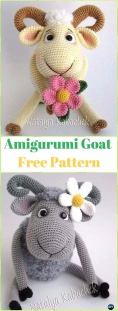 Amigurumi Goat Free Pattern - Crochet Sheep Free Patterns