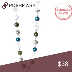 Genuine Multi-color Circle Freshwater necklace Genuine Multi-color Circle Freshwater & Clear Quartz Necklace. Treat with care as the necklace is delicate. Jewelry Necklaces