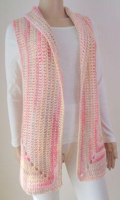 PDF Häkelanleitung Weste – knitting vest – Knitting for Beginners Crochet Waistcoat, Gilet Crochet, Stitch Crochet, Mode Crochet, Crochet Amigurumi, Crochet Cardigan Pattern, Crochet Jacket, Crochet Blouse, Crochet Shawl