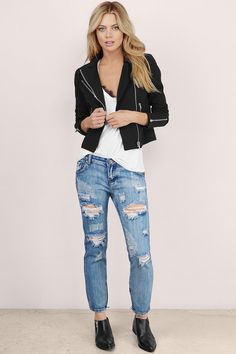 Harper Distressed Skinny Jeans