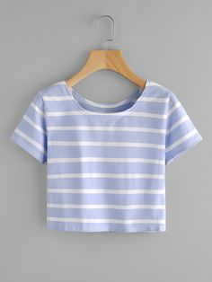 Shop Contrast Striped Tee online. SheIn offers Contrast Striped Tee & more to fit your fashionable needs.