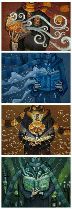 Even though I'm not a ravenclaw (GO SLYTHERIN) I couldn't help but notice how a raven is coming out of the ravenclaw book.even though the eagle is the mascot for ravenclaw. Harry Potter Fan Art, Estilo Harry Potter, Fans D'harry Potter, Mundo Harry Potter, Harry Potter Universal, Harry Potter Fandom, Harry Potter Memes, Harry Potter World, Potter Facts