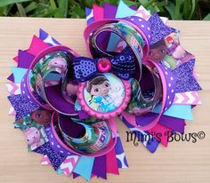 Doc McStuffin Boutique Hair Bow by MirianCarrion on Etsy