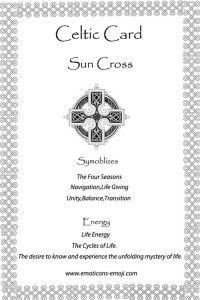 Sun Cross Celtic Card