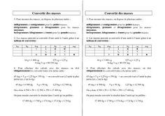 Convertir des masses - Ce2 Cm1 Cm2 - Leçon - Pass Education