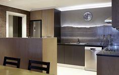 Gentlemen | Dining | Wallpaper | Kitchen | Marble | Oak | Dusted moss | Copper table | Apartment | Interior design | Etienne Hanekom Interiors