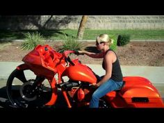 Dirty Bird Concepts First Girl To Ride A 30 Bagger - YouTube