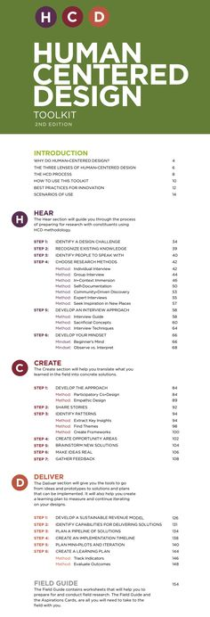 HCD Toolkit (v2 - Sept 2014) | A step-by-step guide to the elements of human-centered design | by IDEO.org