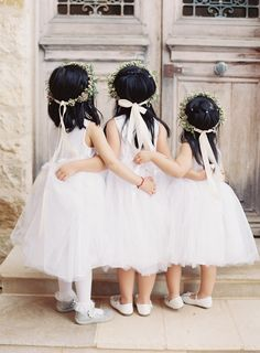 From the artistic captures of the bridal party to the picture-perfect reception decor, Caroline Tran shares all the details of this California wedding. Flower Girl Dresses Country, Flower Girl Tutu, Little Girl Dresses, Girls Dresses, Pretty Wedding Dresses, Wedding Flower Girl Dresses, Wedding Flowers, Mod Wedding, Wedding Bride