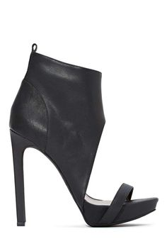 Jeffrey Campbell Sine Leather Bootie | Shop Heels at Nasty Gal