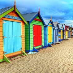 Beach hutson Brighton Beach in Victoria, #Australia. Photo courtesy of tee_kay on Instagram. #howisummer