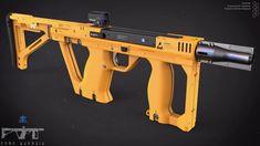 Compact Weapon Design, Edon Guraziu on ArtStation at https://www.artstation.com/artwork/compact-weapon-design
