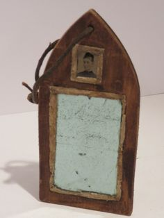 "Civil war era ""sweetheart"" fragment mirror"
