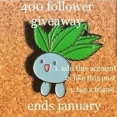 #Repost @hanxholo_arte  Giveaway time! Win this pin! Follow me @hanxholo_arte Repost and tag me Tag a friend One entry per person  Winner chosen at random end of January.  #giveaway #pingame  #pins #pokemon #lapelpins  #oddishpin    (Posted by https://bbllowwnn.com/) Tap the photo for purchase info.  Follow @bbllowwnn on Instagram for great pins patches and more!