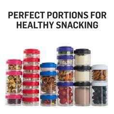 Amazon.com: BlenderBottle GoStak Twist n' Lock Storage Jars, 4-Piece Starter Pak, Black: Blender Bottle: Kitchen & Dining