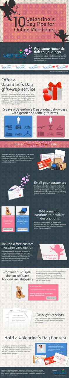 10 #Valentine's Day Tips for Ecommerce SMB Merchants #Infographic www.socialmediamamma.com - by Bootcamp Media ( #Marketing #SEO #Infographics )
