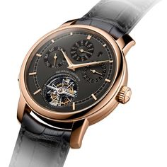 Vacheron Constantin Traditionnelle calibre 2755 combining a tourbillon, a perpetual calendar and a minute repeater with centripetal flying strike governor.