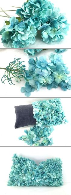 DIY No Sew Spring Pillow Tutorial.  In this video, I turn a drab pillow into fluffy spring goodness to use in my home office. http://southerncharmwreaths.com/blog/diy-no-sew-spring-pillow-cover-tutorial/