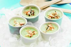 Start off the festive season on the right foot with these feisty crab and cucumber soup shots.