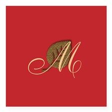 Cute Merry Christmas Red Gold Sticker