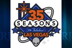 The logo celebrates the franchise's 35 years in Las Vegas.