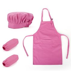 Opentip.com: (Price/12 Sets) Opromo Colorful Cotton Canvas Kids Apron, Chef Hat and Oversleeve Set, Party Favors