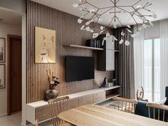 Chị Hoa - jamona - warm house on Behance Home Living Room, Interior Design Living Room, Living Room Decor, Dining Room, Living Room Tv Unit Designs, Home Room Design, Apartment Design, Wall Design, Planer
